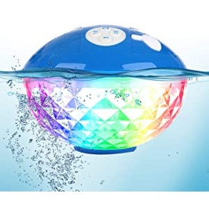 Blufree Bluetooth Speakers with Colorful Lights - Best Waterproof Speaker: Sparkly LED lights