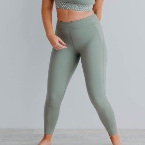 Duke The Label Bohemian Twist Booty Sculpt Leggings 7/8 Olive - Best Leggings for Plus Size: Easy Care and Cleaning