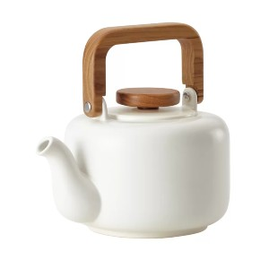BonJour 4-Cup. Ceramic Coffee Teapot with Infuser - Best Teapot with Infuser: Elegant Teapot
