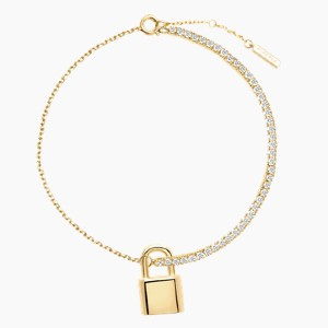 PDPAOLA Bond Gold Bracelet - Best Jewelry for 25th Wedding Anniversary: It protects your love