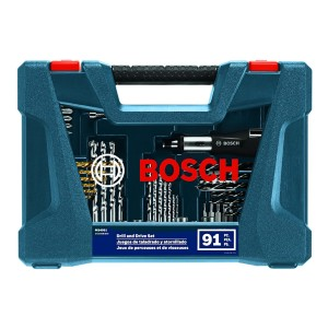 Bosch Drilling and Driving Mixed Set MS4091 - Best Drill Bits for Wood: Includes Removable Components
