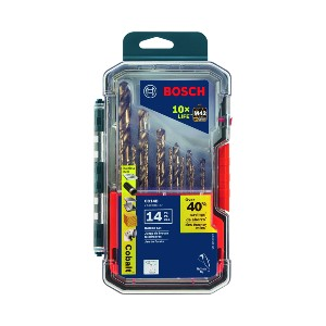 Bosch CO14B  - Best Drill Bits for Stainless Steel: Thick Web-Helix Design