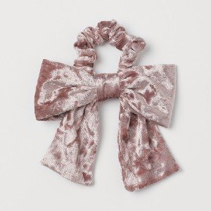 H&M Bow-detail Scrunchie - Best Hair Scrunchies: Soft Velour with a Large Bow