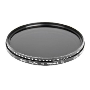 Bower Variable Neutral Density (ND) Filter  - Best ND Filters for Landscape Photography: Allows Use of Fast Film in Bright Light