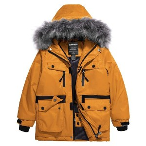 Wantdo Parka Jacket with Faux Fur Hood - Best Coats for Toddlers: Stretchable Thumb Holes Design