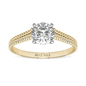 Blue Nile Braided Cathedral Solitaire Engagement Ring - Best Jewelry for Engagement Ring: Best timeless design