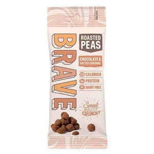 Brave Roasted Peas Chocolate & Salted Caramel - Best Healthy Snack: Sweet, salty, crunchy