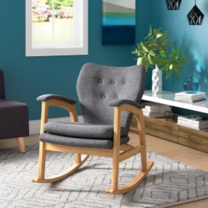 Brayden Studio® Saulsberry Fabric Rocking Chair - Best Rocking Chair for Living Room: Affordable Comfortable Chair
