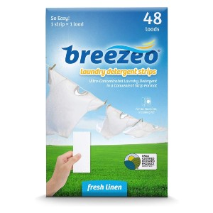 Breezeo Laundry Detergent Strips - Best Laundry Detergent Sheets: Convenient Detergent Strip