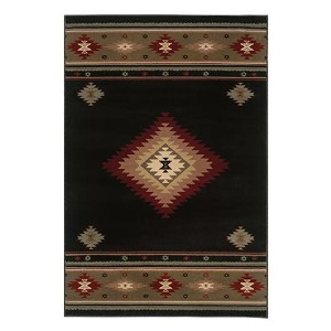 The Rug Truck Bridger 87g Black Area Rug - Best Rug to Have with Dogs: Best premium pick