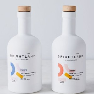 Brightland 100% Extra Virgin Heirloom Olive Oil - Best Olive Oil for Dipping Bread: Olive Oil with Glass Bottle