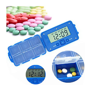 BrilliantDay Electronic Pill Timer - Best Pill Boxes with Alarm: Lightweight and Small Pill box