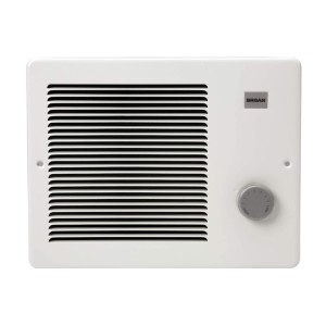 Broan Painted Grille Wall Heater - Best Space Heater for Bathroom: Adjustable front-mounted thermostat heater