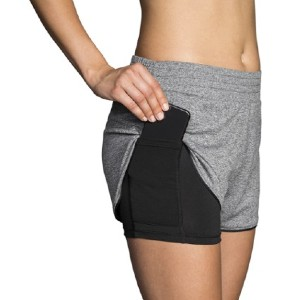 Brooks Rep 2-in-1 Shorts - Women's - Best Running Shorts with Pocket: Phone-sized pocket hidden on the side