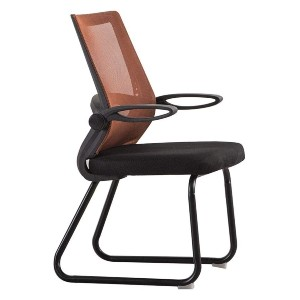 Bseack Swivel Chair Computer Chair - Best Office Chair Without Wheels: Soft Breathable Sponge Cushion and Mesh Back