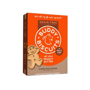 Buddy Biscuits Grain-Free Oven Baked with Homestyle Peanut Butter Dog Treats - Best Biscuits for Dogs: Natural Ingredients