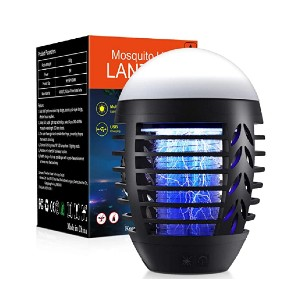 WAASII Powerful Insect Killer - Best Indoor Bug Zapper for Mosquitoes: 3 lighting modes
