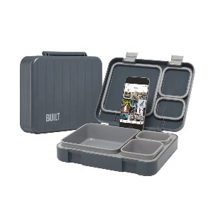 Built Reusable Lunch Box Container  - Best Lunch Boxes for Adults: Two Latches Lock Shut for a Leak-Resistant Closure