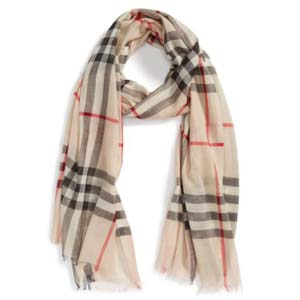Burberry Giant Check Print Wool & Silk Scarf - Best Scarves for Winter: Feels like a dream against your skin