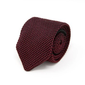 Nimble Made Burgundy Knit Tie - Best Ties for Navy Suit: Best for budget