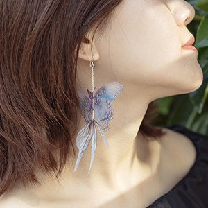 The Apollo Box Butterfly Crepe Earring - Best Jewelry for Off the Shoulder Dress: For a sweet, whimsical touch