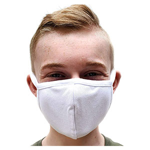Buttonsmith  White Adult Cotton Face Mask - Best Masks for Glasses Wearers: Comfortable and Breathable