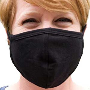 Buttonsmith Black Adult Cotton Face Mask - Best Masks for COVID: Simple but not regular