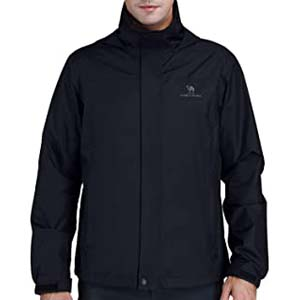 CAMEL CROWN Mens Waterproof Hooded Rain Coat - Best Raincoats for Summer: Dry as if it never rained