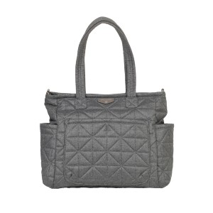 TWELVElittle CARRY LOVE TOTE IN GREY NYLON 2.0 - Best Tote Diaper Bags: Attachable Webbing Long Strap
