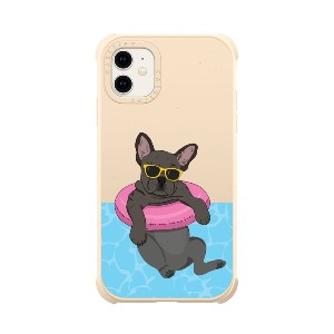CASETIFY Swimming Frenchie - Best Phone Cases Protection: Dog Lover Case