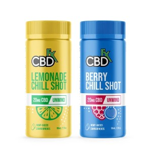 CBDfx CBD Chill Shots 20mg - Best CBD Drink Mix: Pure CBD with Soothing Components