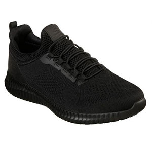 Skechers CESSNOCK SR - Best Waterproof Shoes for Nurses: Stretch Bungee Laced Front Panel for Easy Slip On Fit