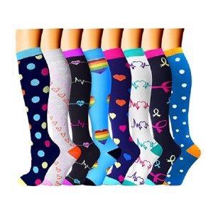 CHARMKING Compression Socks - Best Compression Socks for Varicose Veins: Comfortable Material and Careful Construction