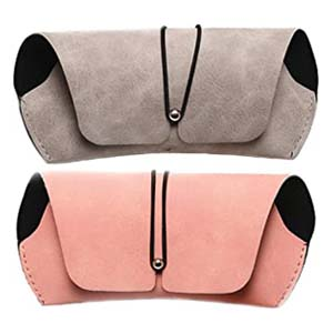 Cherish Intelligence 2 Pcs Soft Portable Leather Sunglass Case - Best Glasses Cases: Fashion and Function