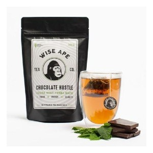 Wise Ape CHOCOLATE HUSTLE - Best Tea to Drink in the Morning: Controlled Focus and Concentration