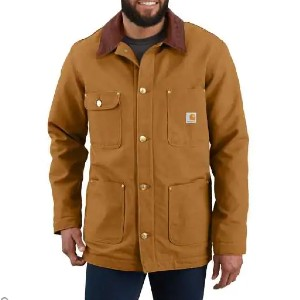 Carhartt CHORE COAT - Best Coats for Men: Two Rivet-Reinforced Chest Pockets