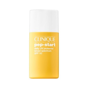 Clinique Pep-Start Daily UV Protector Broad Spectrum SPF 50 - Best Sunscreen Non Comedogenic: Universal Tint Sunscreen