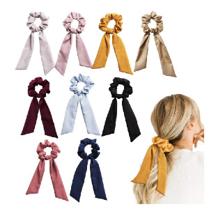 CODOHI Solid Hair Scrunchies Bowknot Ties - Best Scrunchies on Amazon:  Smooth and Soft to Touch