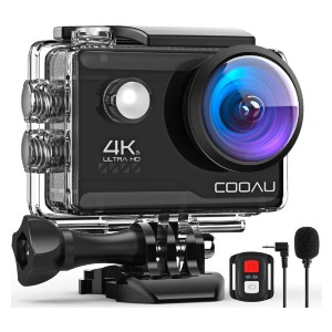 COOAU 4K  - Best GoPro for Vlogging: Ultra HD 4K 20MP Action Camera