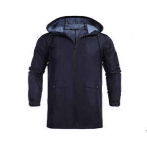 COOFANDY Men's Waterproof Hooded Rain Jacket - Best Rain Jackets For Europe: Made of Thick Material and Handy