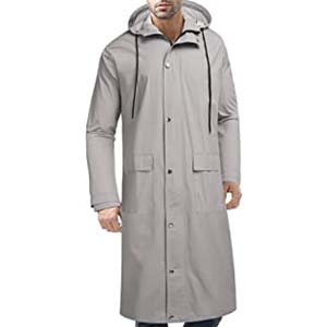 COOFANDY Men's Rain Jacket with Hood - Best Raincoats with a Suit: Stand out from the crowd