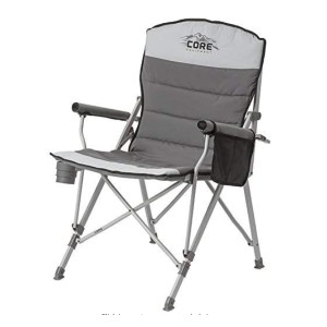 CORE Equipment Folding Padded Hard Arm Chair  - Best Folding Chair for Back Support: Perfect for back-pain sufferers