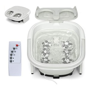 COSTWAY Bath Massager - Best Foot Spa for Neuropathy: Compact and collapsible