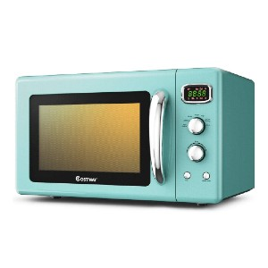 COSTWAY Retro Countertop Microwave Oven - Best Microwave for Seniors: Simple operation