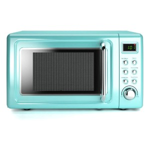 COSTWAY Retro Countertop Microwave Oven - Best Microwave Under 100: No more checking