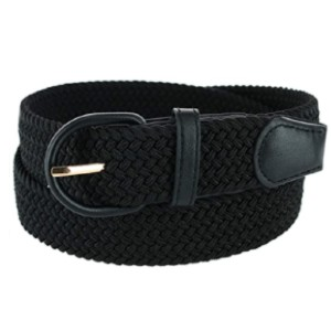 CTM Men's Elastic Braided Belt with Covered Buckle - Best Belt for Fat Guys: Elastic Belt