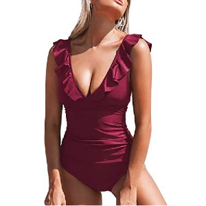 CUPSHE Women's V Neck One Piece Swimsuit - Best Swimwear for Large Busts: The most affordable