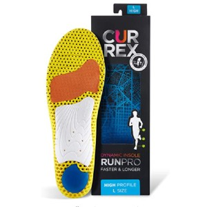 CURREX World's leading insoles for Running shoes - Best Insoles for High Arches: Three-Zone Design
