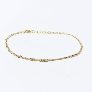 Jenny and Jude Morse Code Gold Fill Bracelet - Best Personalized Jewelry for Moms: Best for secret meaning