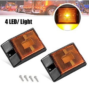 CZC AUTO LED Amber Side Marker Lights - Best LED Side Marker Lights: The most affordable